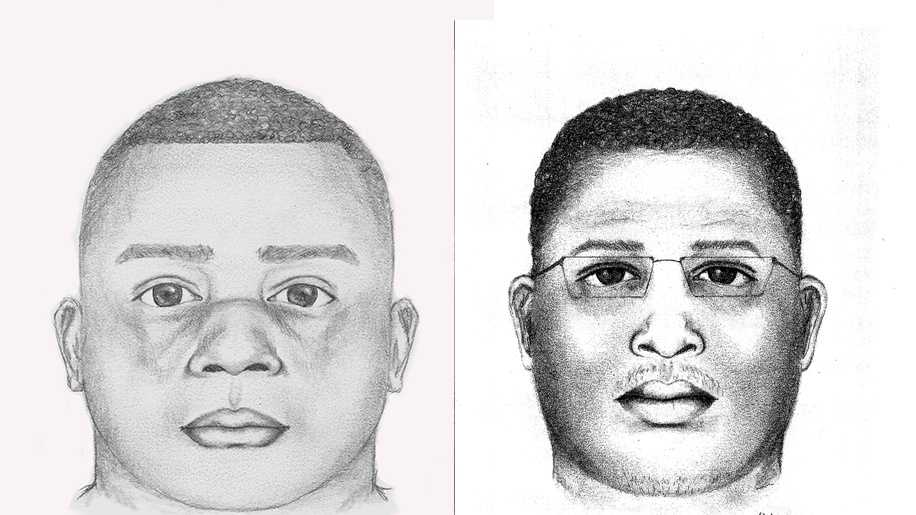 Suspect sketches from two rape cases in Sacramento County.