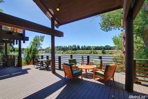 The home also has a boat dock with shore power.