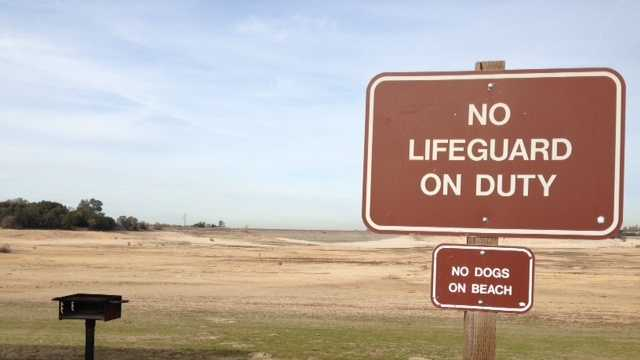 Sign posted at Folsom Lake's Beals Point.