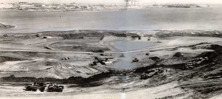 Groundbreaking for a new stadium in San Francisco -- later named Candlestick Park -- was held on Aug. 12, 1958.