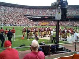The San Francisco 49ers started playing at Candlestick Park during the 1971-72 season. Prior to the 71-72 season, the 49ers played at Kezar Stadium.
