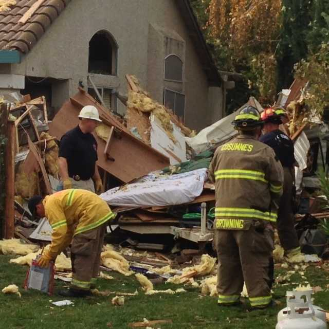 Authorities say a 16-year-old boy was severely burned when a trailer in front of an Elk Grove home exploded in November.