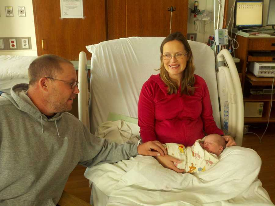 Twenty minutes after the clock struck midnight in 2013, the first baby of the year -- in the Sacramento area, that is -- was born. Allison Donecker gave birth to a little boy, John Mitchell Donecker, at 12:20 a.m. at the UC Davis Medical Center.