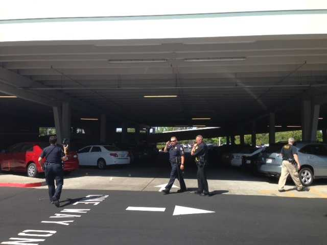 This photo shows police officers responding to reports of shots fired at a parking structure at the Arden Fair Mall.Reports indicated that four men, arguing at the mall, took the fight outside into a parking lot, where one of them pulled out a gun and fired shots in July.