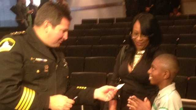 Sheriff Scott Jones gives Malik his cellphone number (Dec. 18, 2013).