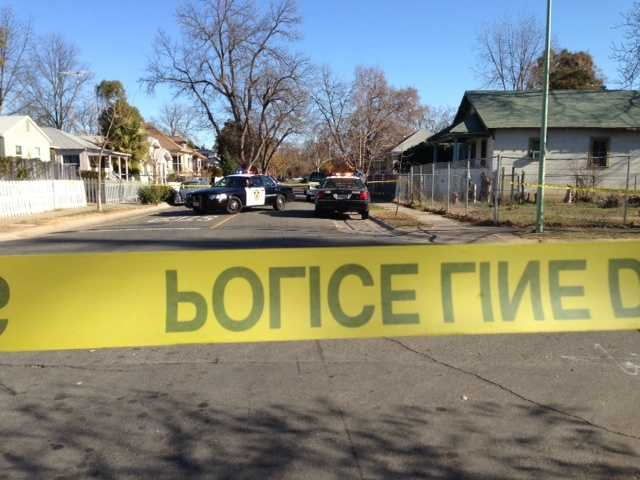 Police blocked off the intersection of 37th Street and 7th Avenue in Sacramento after a person was shot Saturday.