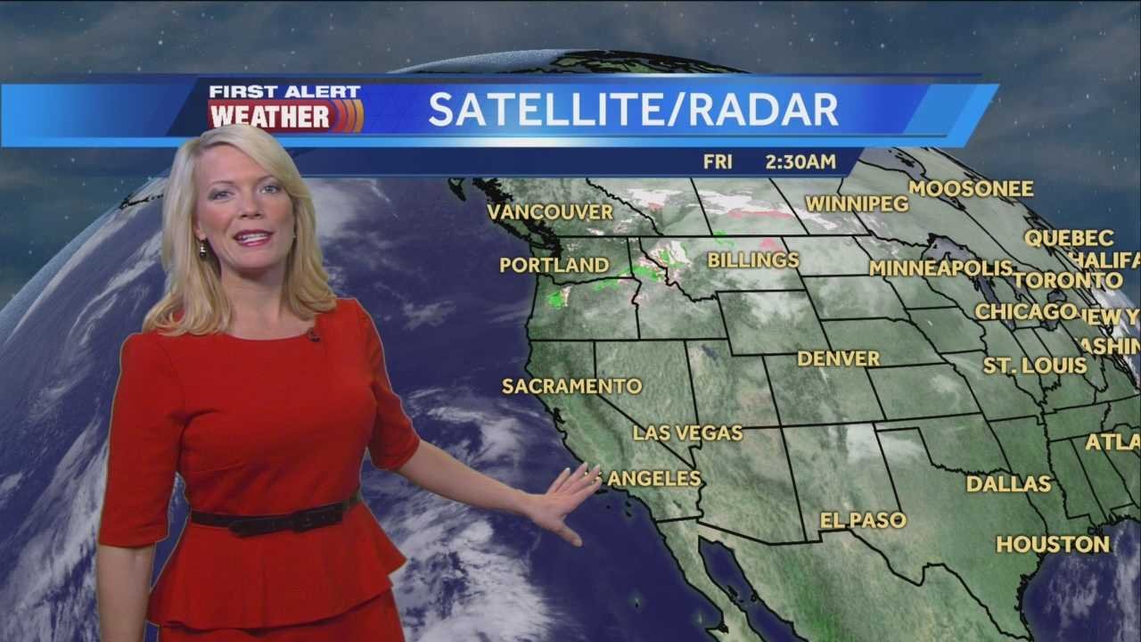 Cloudy skies this morning with clearing for the afternoon. Tamara shows us if we could break records once again.