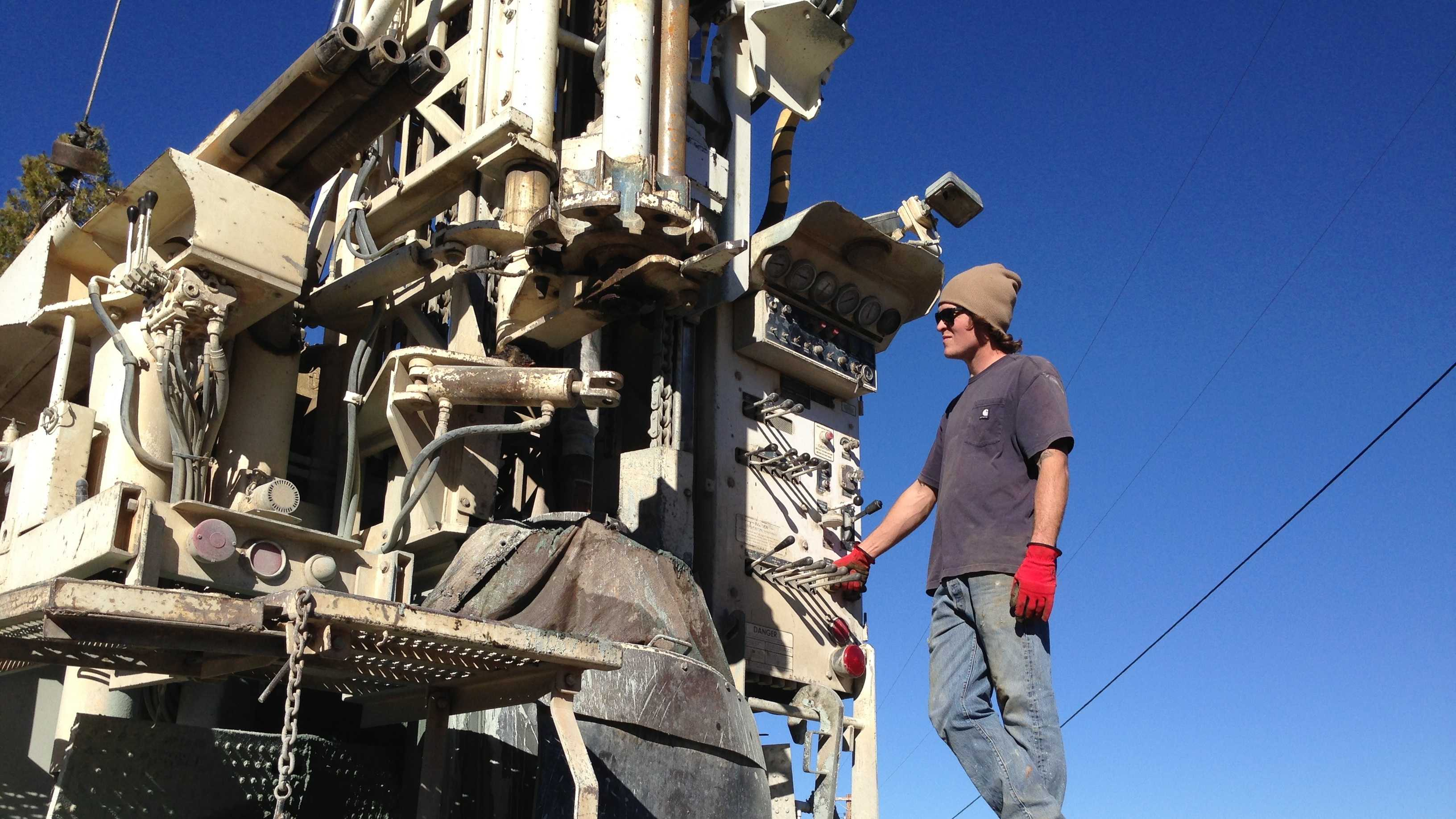 Foothills well drilling