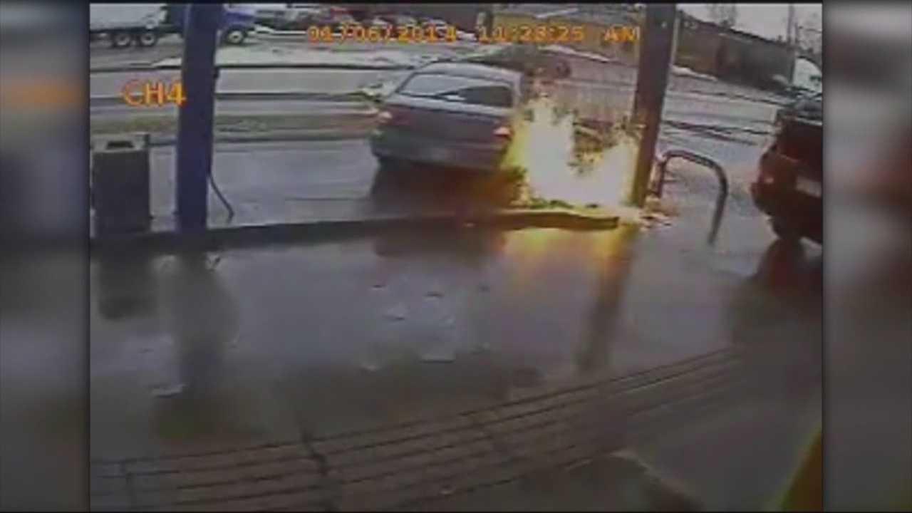 Walpole gas station accident