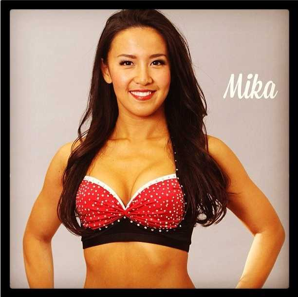 Meet Mika, and go here to see more photosof the 49ers' Gold Rush cheerleaders.