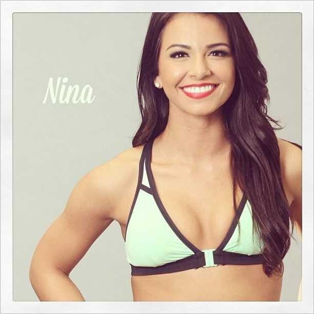 Meet Nina, and go here to see more photosof the 49ers' Gold Rush cheerleaders.