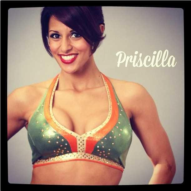 Meet Priscilla, and go here to see more photosof the 49ers' Gold Rush cheerleaders.