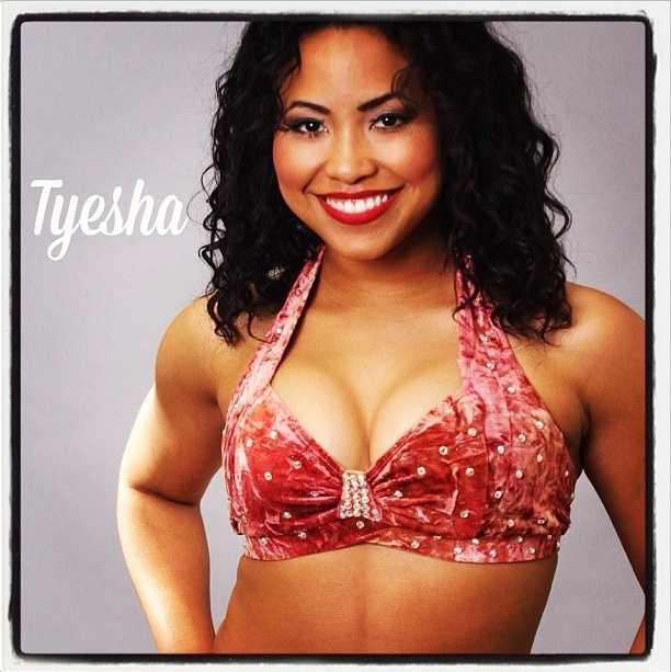 Meet Tyesha, and go here to see more photosof the 49ers' Gold Rush cheerleaders.