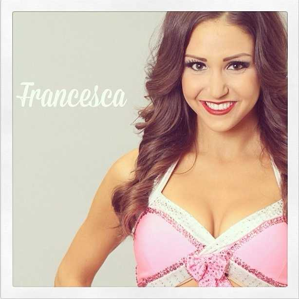 Meet Francesca, and go here to see more photos of the 49ers' Gold Rush cheerleaders.