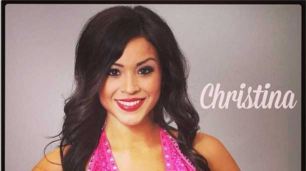 Meet Christina, and go here to see more photos of the 49ers' Gold Rush cheerleaders.