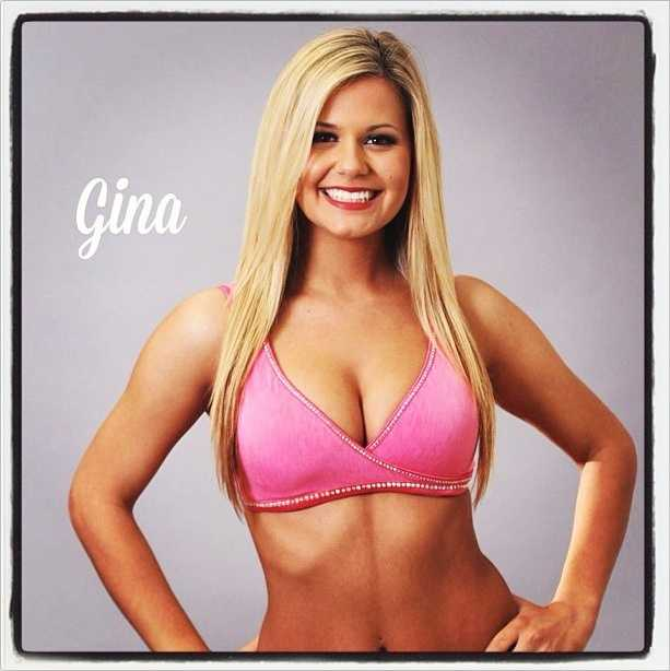 Meet Gina, and go here to see more photos of the 49ers' Gold Rush cheerleaders.
