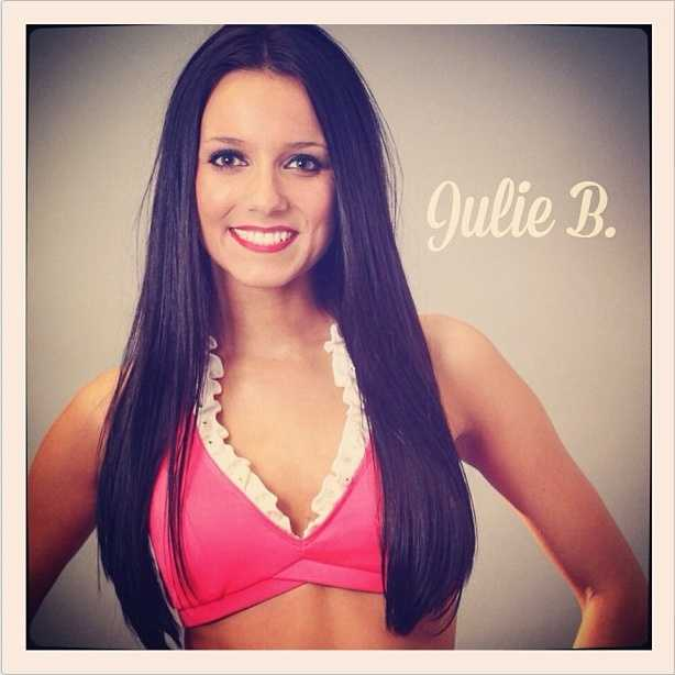 Meet Julie B., and go here to see more photos from the 49ers' Gold Rush cheerleaders.