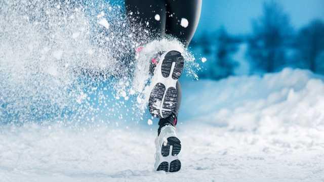 Winter running exercise