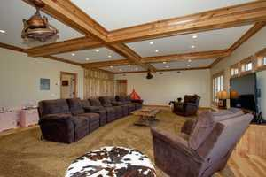 Inside the home, there is also a media room and another bonus room around the corner.