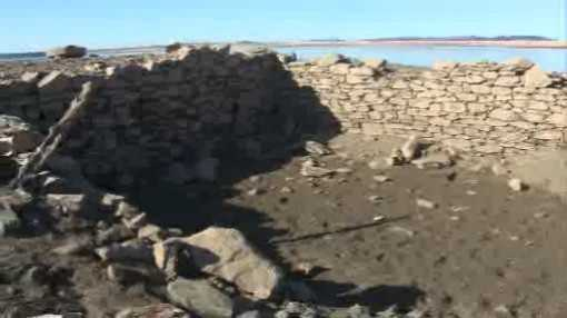 Ruins of Mormon Island, which are usually at the bottom of Folsom Lake, were an attraction for visitors in the winter months of 2013-14.