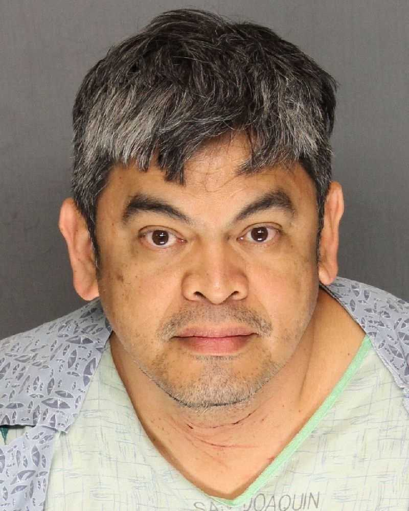 Lope Charvet, 53, was arrested on suspicion of stabbing a 10-year-old boy several times. The boy was saved by an officer who carried him out of the home to get medical attention. Officers said they found Charvet in the home with self-inflicted stab wounds.