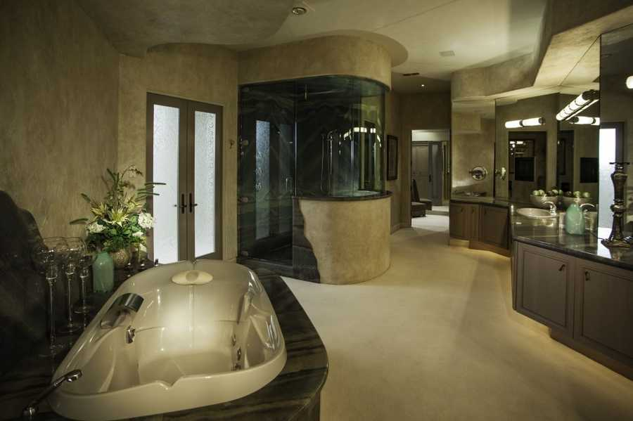 Take a look glimpse inside one of the bathrooms.