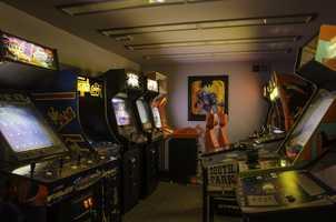 Feel like a kid inside this arcade parlor.
