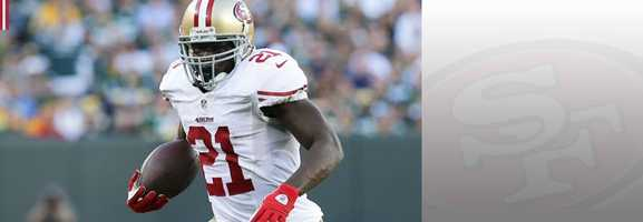 Just like Colin Kaepernick, running back Frank Gore's previous trip to Seattle is one he would like to forget. Gore had just 16 yards in the 49ers' Week 2 loss to the Seahawks. If Gore can turn in a stronger performance this time around, the 49ers should be headed to New Jersey for the Super Bowl. Read bio.