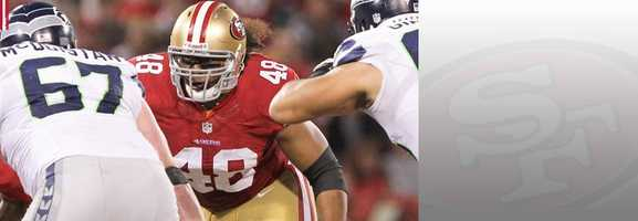 Will he play? That is the big question for fullback Will Tukuafu, who suffered a knee injury last week against the Panthers. If he does indeed play, Tukauafu will play a significant role Sunday, as the 49ers look to use their fullback for short passing screens and run blocking. Read bio.