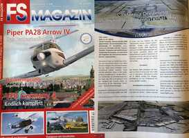 """8.) I was featured in a German flight-sim magazine. After releasing my rendition of Sacramento, I was written up in a publication called """"FS Magazin."""" Naturally, there were several mentions of Arnold Schwarzenegger in the article."""