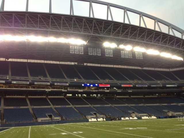 A photo of CenturyLink Field in Seattle.