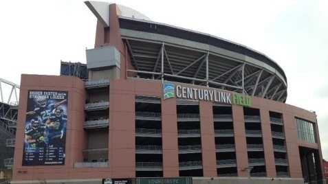 CenturyLink Field in Seattle, site of Sunday's NFC Championship game.