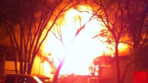 A fire broke out at a Placerville apartment complex Tuesday morning. (Jan. 28, 2014)