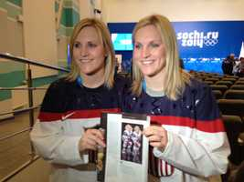 Teammates Monique and Jocelyne Lamoureaux are identical twins. The twins are featured in the Sports Illustrated commemorative Olympics edition.