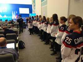 Meet the ladies of the U.S. women's ice hockey team.