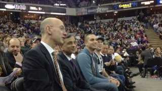 New NBA commissioner Adam Silver at a Sacramento Kings game on Wednesday evening (Feb. 5, 2014).