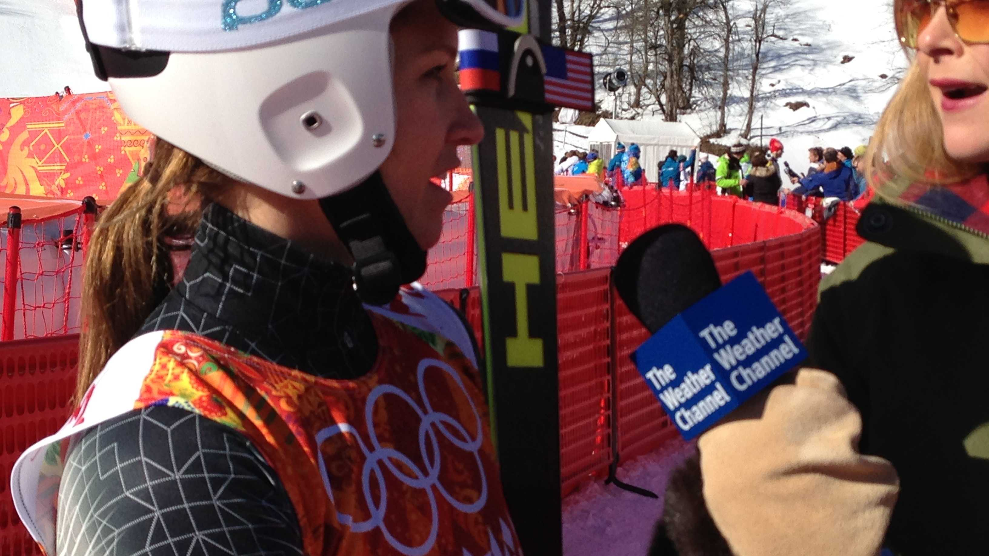 "Julia Mancuso says she still finds the Olympics exciting and loves how ""foreign"" Russia feels."