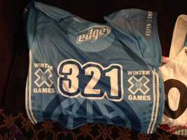 Jamie Anderson wore this bib in the 2014 X Games in Aspen, Colo.