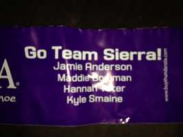 These thundersticks were personalized for members of Team Sierra.