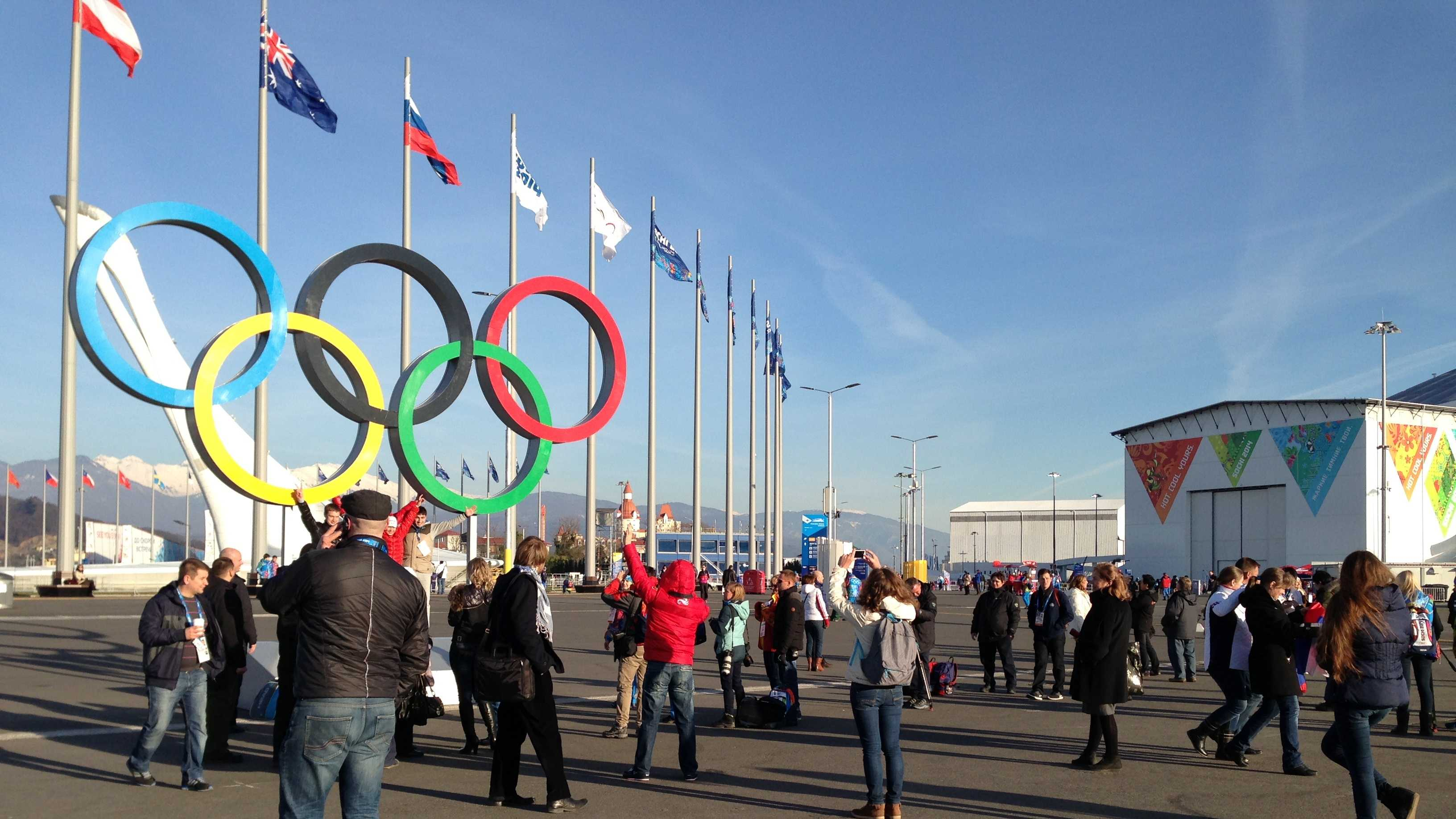 Sochi's Olympic Park is open to the public, but people need a ticket to come in and get a tour.