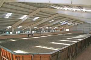 The farm is complete with a large arena.