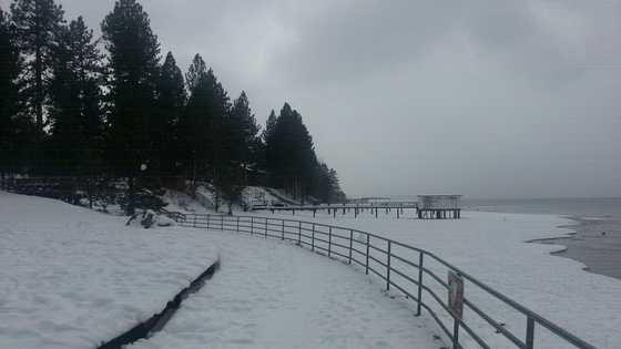 It was a winter wonderland in South Lake Tahoe this weekend.