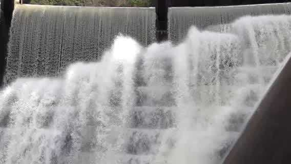Watch this amazing Sierra runoff at Folsom Lake on Monday.