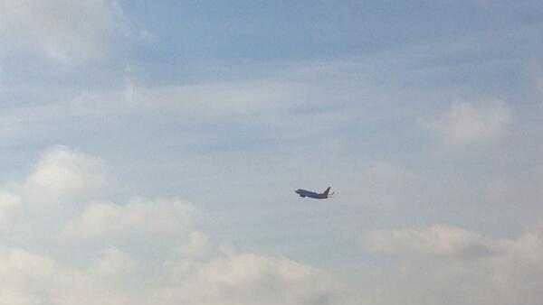 Plane taking off from Sac International