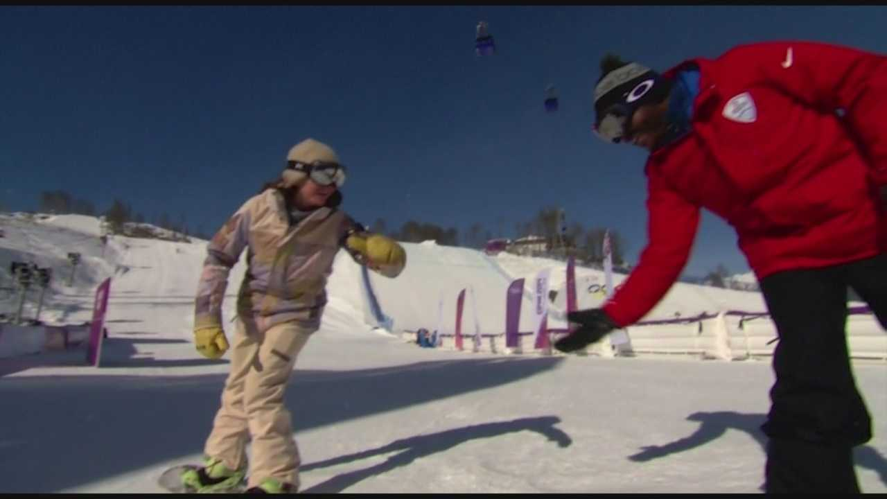 Veteran snowboarder Kelly Clark is known for her ambitious tricks and extreme speed. Since winning Olympic half-pipe gold in 2002, Clark has remained a leader in her sport. She spoke with the Olympic Zone's Sal Masekela in Sochi.