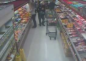 The suspect apparently shoplifted some items from the Safeway, police said.