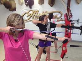 Deirdre tried out her archery skills at the 2012 Summer Olympics in London.