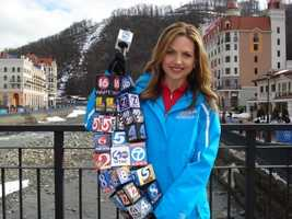 Hearst stations from across the United States sent their microphone flags with KCRA's Deirdre Fitzpatrick who is in Sochi for the 2014 Winter Olympics.