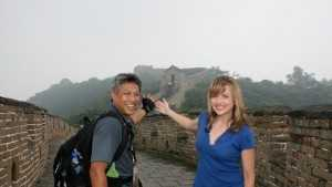 Deirdre and Domi visited the Great Wall of China while covering the 2008 Beijing Olympics.