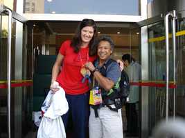KCRA photographer Domi got a picture with gold medalist Stephanie Brown Trafton who competed in discus at the 2008 Beijing Olympics.